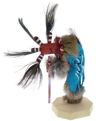 Native American Navajo Kokopelli Kachina Doll KX74582