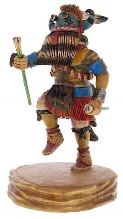 Hopi Tungwup Or Whippers Uncle Kachina Doll Keith Torres KX23280