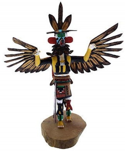 Hopi Kwahu or Eagle Kachina Doll Ron Duwyenie KX40154