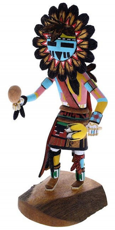 Hopi Tawa or Sun Kachina Doll Native American Ron Duwyenie KX40166