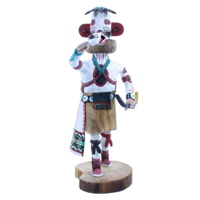 White Buffalo Hopi Kachina Doll Native American Joe Duwyenie RX103845