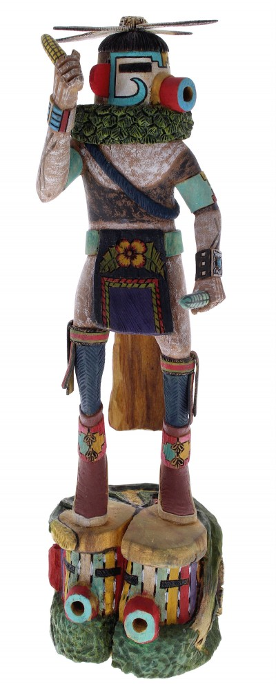 Hopi Kae or Corn Dancer Kachina Doll by Woody Sewemaenewa RX105095