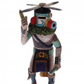 Hopi Ka'e or Corn Dancer Kachina Doll by Woody Sewemaenewa KX40170
