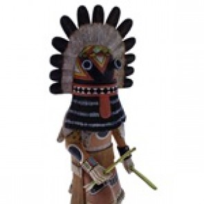 Hopi Broad-Faced Kachina Doll by artist Woody Sewemaenewa KX40122