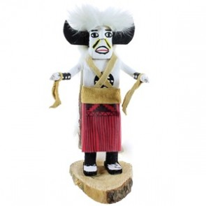 Native American Navajo Indian Buffalo White Haired Kachina Doll NX99471