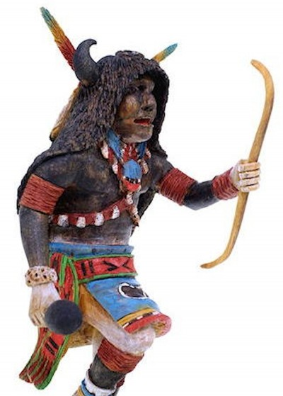 Hopi Buffalo Kachina Doll By Artist Keith Torres KS41825