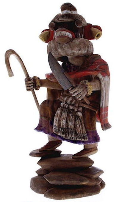 Hopi Priest Killer Kachina Doll Carving by Artist Daryl Karuh KX40141