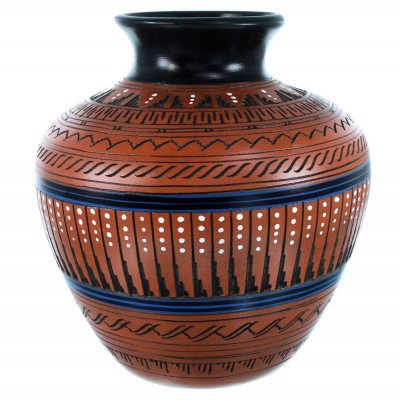 Navajo Indian Hand Crafted Pot By Navajo Artist Ernie Watchman RX110352