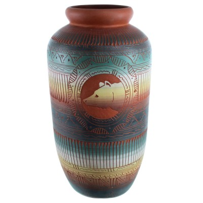 Navajo Hand Crafted Bear Pottery By Betty Sam SX111137
