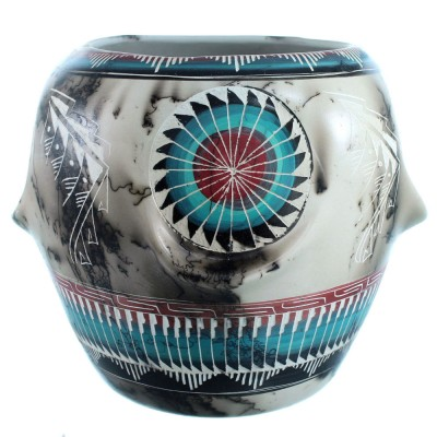 Horse Hair Navajo Pottery Hand Crafted By Aileen Yazzie SX111182