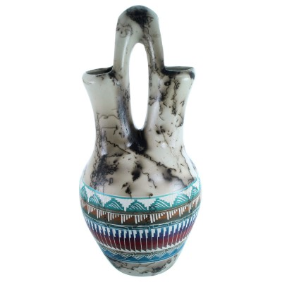 Horse Hair Navajo Hand Crafted Wedding Vase By Artist E.B. SX112270