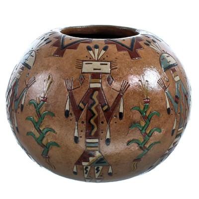 Native American Miniature Kachina Pot ZX116951