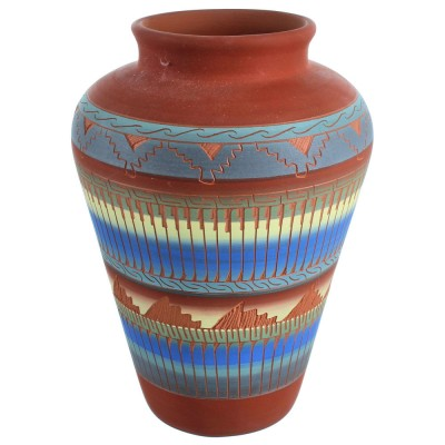 Hand Crafted Navajo Pot By Artist Joann Johnson DX117983