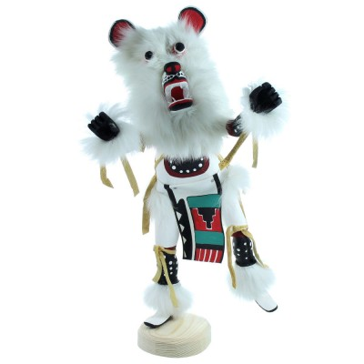 Hand Crafted Bear Kachina Doll By Navajo Artist G. Largo RX117954