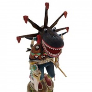 Hopi Nataska or Ogre Kachina Doll by Derrick Hayah  KX40171