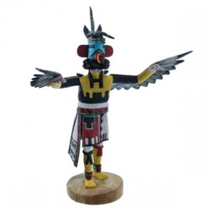 Hopi Indian Eagle Or Kwahu Kachina Doll By Joseph Duwyenie RX104068