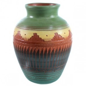Navajo Pottery Hand Crafted By Marilyn Kinliche SX110369