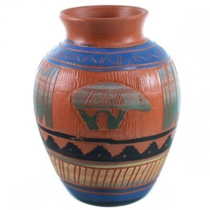 Hand Crafted Navajo Bear Pot By Bernice Watchman Lee SX110362