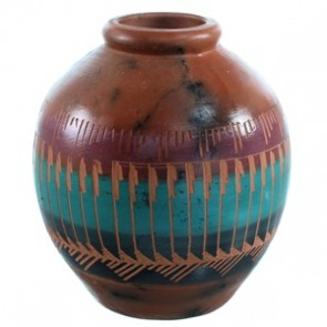 Navajo Indian Pot Hand Crafted By Artist Cecelia Benally SX110401