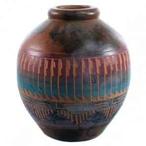 American Indian Pot Hand Crafted By Artist Cecelia Benally SX110402
