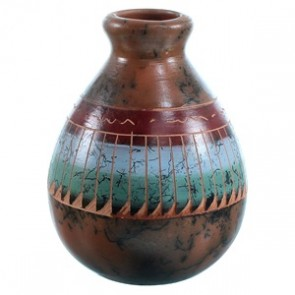 Hand Crafted Navajo Horse Hair Pot By Russel Sam SX110397