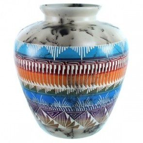 Navajo Hand Crafted Horse Hair Native American Pot SX111129
