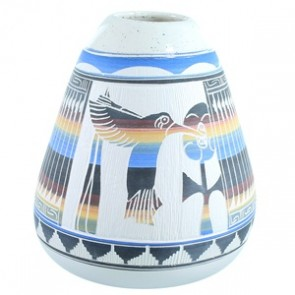Flower And Humming Bird Navajo Pot By Tamaria Arviso SX111173
