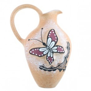 Zuni Hand Crafted Butterfly Pottery By Artist Tony Lorenzo SX111690