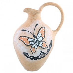 Hand Crafted Zuni Butterfly Pottery By Artist Tony Lorenzo SX111692