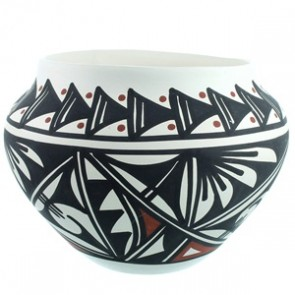 Acoma Hand Crafted Pot By Artist Lindsey Poncho SX111778