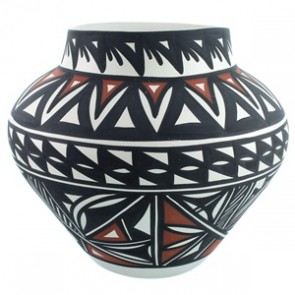 Hand Crafted Acoma Pottery By Artist Lindsey Poncho SX111780