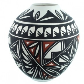 Acoma Native American Pottery Hand Crafted By Artist Lindsey Poncho SX111782