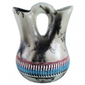 Horse Hair Navajo Hand Crafted Wedding Vase By Larry Livingston SX112060
