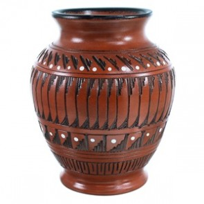 Hand Crafted American Indian Pot By Earnest Watchman SX112125