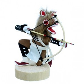 Brown Wolf Navajo Kachina Doll SX112167