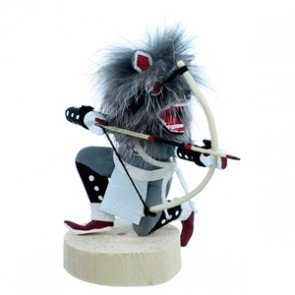 Navajo Grey Wolf Kachina Doll SX112166