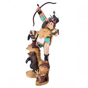 Hopi Warrior Kachina Doll By Artist Lowell Talashoma Sr. And Kerry Lyle David SX113122