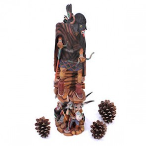 Hopi Warrior Kachina Doll By Artist Timothy Talawepi SX113130