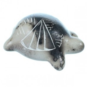 Horse Hair Navajo Hand Crafted Miniature Turtle Pot By Marilena Sam SX113355