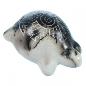 Hand Crafted Navajo Indian Horse Hair Miniature Turtle Pot By Marilena Sam SX113374