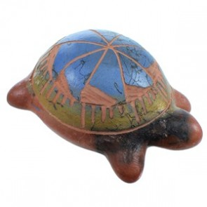 Native American Horse Hair Miniature Turtle Pot Hand Crafted By Marilena Sam SX113432