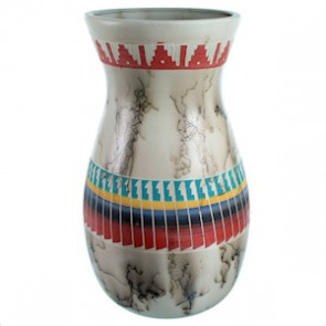 Hand Crafted Navajo Horse Hair Pot By Agnes Woods SX113299