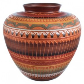 Navajo Hand Crafted Pot By Artist Bernice Watchman Lee SX115403