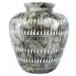 Navajo Hand Crafted Horse Hair PotteryBy Artist C.J. SX115396
