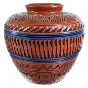 Hand Crafted Navajo Pottery By Artist Derrick Watchman SX115399