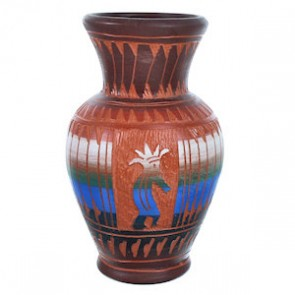 Navajo Kokopelli Pottery Hand Crafted By Bernice Watchman Lee SX115459