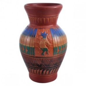 Hand Crafted Navajo Kokopelli Pot By Bernice Watchman Lee SX115456