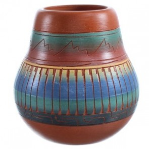 Pottery By Hand Crafted Navajo Artist V. King SX115476