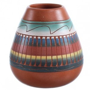 Hand Crafted Pot By Native American Artist V. King SX115475