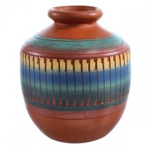 Hand Crafted Navajo Indian Pot By V. King SX115472